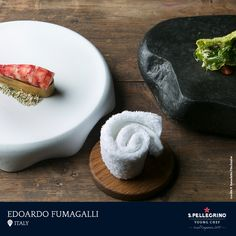 Edoardo Fumagalli from La Locanda Del Notaio in Pellio Intelvi, Italy, is the Italy finalist at S.Pellegrino Young Chef 2018 with his signature dish of 'Carabinieri shrimp, frosted sweetbreads, crispy algae and aromatic salad.'