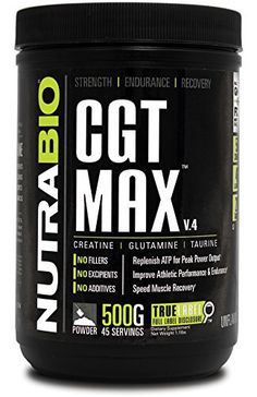 CGT-MAX is an advanced workout supplement that combines three of the most effective muscle building ingredients: Creatine, Glutamine and Taurine into one explosive formula providing your muscle with total nutrition for maximum gains and quick muscle recovery from intense workouts. With CGT-MAX,... more details at http://supplements.occupationalhealthandsafetyprofessionals.com/weight-loss/supplements/relora/product-review-for-nutrabio-cgt-max-unflavored-440-grams-creatine-l-gl