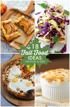 With the color of the changing leaves comes so many yummy treats! Here are… 18 Fall Food Ideas! 18 Fall Food Ideas from this week's Best Friday Features! Gourmet Recipes, Crockpot Recipes, Healthy Recipes, Dessert Recipes, Pilsbury Recipes, Roasted Cherry Tomatoes, Pumpkin Dessert, Easy Cooking, Cooking Ideas