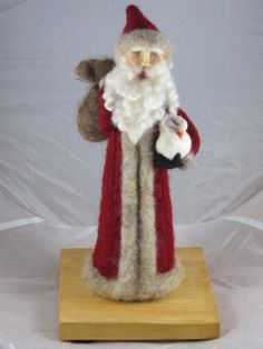 Needle felted santa by Megan S. Coupland