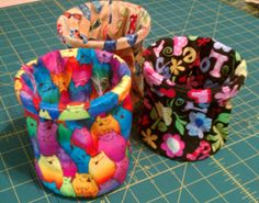 Several of the ladies in the Bionic Gear Bag sewing group are making these adorable thread catchers to go into their gear bags.. they ar...