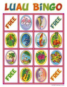 Luau Party Ideas and Free Luau Bingo Game