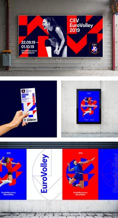 creative campaign creative campaign Brand New: New Logo and Identity for CEV by Alphabet You are in the right place about Waterpark tips Here we offer you the most beautiful pictures about t Event Branding, Corporate Identity, Corporate Design, Visual Identity, Identity Branding, Event Logo, Sports Graphic Design, Graphic Design Posters, Graphic Design Inspiration