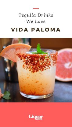 Tequila and fresh-squeezed grapefruit juice, with simple syrup and club soda come together to create this beautiful summer cocktail. However, the real wild card is a spicy chile piquin glass rim–dried, pulverized hot pepper with a smoky-citrusy flavor!