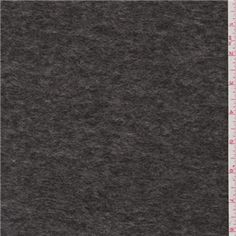 Steel Grey Boiled Wool Coating - 24679 - Fabric By The Yard At Discount Prices