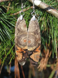 $49.95 super deal on etsy! Wood Earrings That Are Just A Little by forestlifecreations