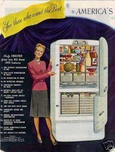 1940's maytag fridge | Frostor Refrigerator Ad 2 Page (1945)