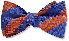 Collegiate Blue and Orange - bow tie