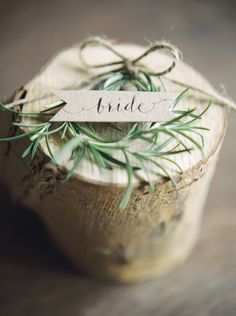 Elegant Rustic Wedding Place Name // Photography ~ Theresa Furey