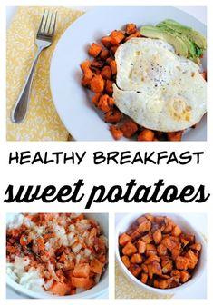 Healthy Breakfast Sweet Potatoes Recipe -- An easy and delicious recipe for breakfast potatoes -- sweet potato style!
