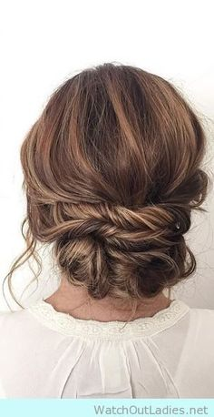 20 Most Romantic Bridal Updos Wedding Hairstyles to Inspire .- 20 Most Romantic Bridal Updos Wedding Hairstyles to Inspire Your Big Day updo wedding hairstyles for long hair - Homecoming Hairstyles, Wedding Hairstyles For Long Hair, Fancy Hairstyles, Wedding Hair And Makeup, Hair Makeup, Hair Wedding, Bridal Hairstyles, Bridesmaids Hairstyles, Hairstyle Ideas
