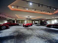 Tucson mansion's basement garage with turntable - ah, now all we have to do is fill it up...