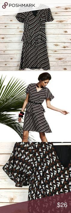 I just added this listing on Poshmark: Duro Olowu Brown Confetti Peplum Flowy Dress. #shopmycloset #poshmark #fashion #shopping #style #forsale #Duro Olowu for JCP #Dresses & Skirts
