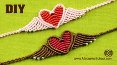 Pulsera de Corazon en Macrame - Flying Heart Bracelet Tutorial