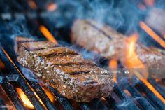 Stock Photo : Sirloin steaks on the bbq Best Cut Of Steak, Steak Cuts, Grilling The Perfect Steak, How To Grill Steak, Dieta Paleo, Carne Asada, Summer Barbecue, Sirloin Steaks, How To Eat Paleo