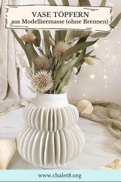 Diy Para A Casa, Diy Casa, Diy Cozinha, Diy Fimo, Diy Upcycling, Vase, German, Crafty, Table Decorations