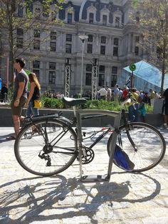 new bike racks at the new Dilworth Plaza at City Hall in Philadelphia