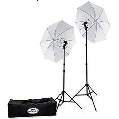 Savage 500 Watt LED Studio Light Kit with 2 Lights, 2 Stands, 2 Umbrellas & Case Led Studio Lights, Studio Lighting Setups, Continuous Lighting, Camera Store, Led Light Kits, Photo Lighting, Savage, Photo And Video, Outdoor Decor