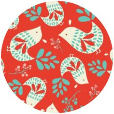 Heather Rosas, Folklore, Birds Ruby - three color combinations available - fabricworm.com