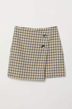 7439faec3 H&M Checked Skirt - Beige Plaid Pants, Plaid Skirts, Plaid Mini Skirt, Cute