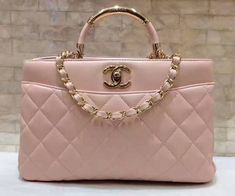 Chanel Small Carry Chic Shopping Bag A93753 in Pink