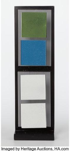 Latin American:Contemporary, Jesús Rafael Soto (Venezuelan, 1923-2005). Multiple V (fromthe Jai-Alai series), 1969. Wood with four square metal ...
