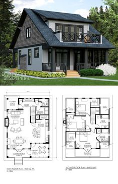 Handwerker - Nahezu perfekter Grundriss - Craftsman - Almost perfect floor plan - # Sims House Plans, Dream House Plans, Cottage Floor Plans, Lake House Plans, Tiny Home Floor Plans, Modern Home Plans, 3 Bedroom Home Floor Plans, Small Cottage Plans, Guest House Plans