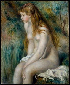 """Pierre-Auguste Renoir, """"Girl Bathing"""""""