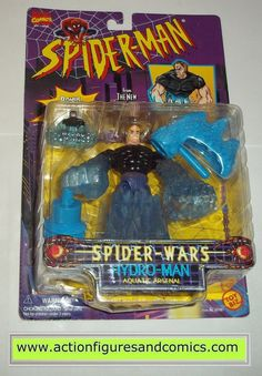 Toy Biz SPIDER-MAN the ANIMATED SERIES marvel action figures 1996 HYDRO MAN New - still factory sealed in the original package Condition: Overall great condition minor shelf wear only Figure size: app