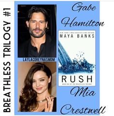 Gabe & Mia in Rush The Breathless Trilogy by Maya Banks Maya Banks, Sylvia Day, Casting Pics, Day Book, Books To Read, Erotic, Novels, It Cast, Fandoms