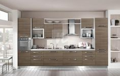 Mobila Bucatarie 014 Design Case, Double Vanity, Home Projects, Kitchen Design, Kitchen Ideas, House Plans, Sweet Home, Kitchen Cabinets, House Design