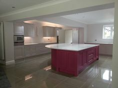 Pink Painted Kitchen