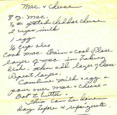Mrs. Harry Truman's Macaroni and Cheese  - Can be prepared and refrigerated to serve the next day.  Source:  Google