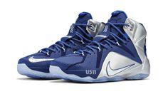 80c55072239 LeBron 12 Cowboys Deep Royal Blue White Metallic Silver Lyon Blue 684593  410 Dallas Cowboys Shoes