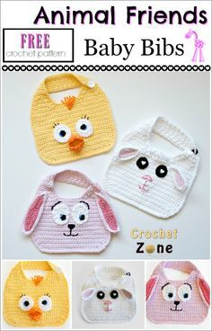 This post contains affiliate links Animal Friends Bibs These bibs are perfect for spring. I made a chick, lamb and bunny but the basic pattern is so easy to adapt to almost any animal. Use your ima…