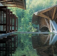Crosswaters Ecolodge in Guangdong Province, China  Simón Vélez, architect and pioneer in the contemporary use of bamboo as an essential building component.  He invented a new method to build foundations and roofs, which transformed one of the world's oldest building materials, namely bamboo, into a modern resource.