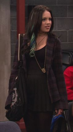 Jade West from Victorious is one of my fashion role models Edgy Outfits, Grunge Outfits, Grunge Fashion, Cute Outfits, Fashion Outfits, Jade West Victorious, Victorious Cast, Jade West Style, Jade West Hair