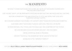 Manifesto.  I really love this!