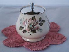 Vintage Retro Midwinter Stylecraft preserve pot or lidded sugar bowl.  Made in 1962. by Alexsprettyvintage on Etsy