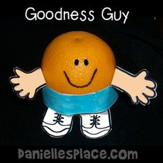 Goodness Guy Orange Craft for Fruit of the Spirit Sunday School Lesson from www.daniellesplace.com