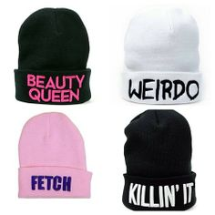 Cute Beanies With Sayings
