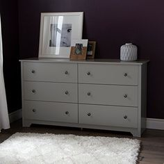 This dresser features six drawers embellished by handles in a Matte Nickel finish, and a decorative kick plate. It is adorned for being a perfect blend of minimalist style and exceptional functionality. In addition, it will meet all your storage needs. We like its versatile look, which blends... more details available at https://furniture.bestselleroutlets.com/bedroom-furniture/dressers/product-review-for-south-shore-vito-6-drawer-double-dresser-soft-gray/