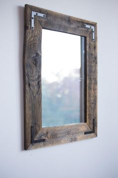 Barnwood Framed Bathroom Mirrors wooden mirror | industrial, metals and barn wood