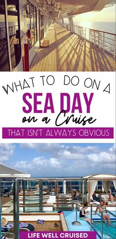 Activities and things to do on days at sea on a cruise vacation.