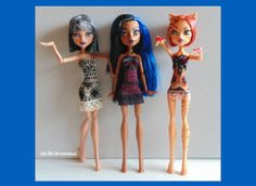 Monster High Doll Clothes Lot of 3 Dresses #25 - by dolls4emma on Etsy, $16.00