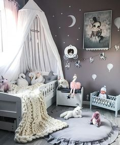 Bring the elegance and luxury to your kids' room with Circu Magical furniture! Check our white inspirations. Baby Bedroom, Nursery Room, Girls Bedroom, Girl Decor, Baby Room Decor, Doll Beds, Little Girl Rooms, Cool Rooms, Decoration