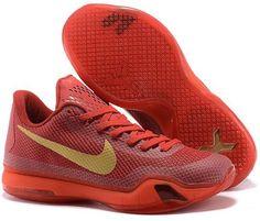 a03f8b58cb17 Kobe 10 EASTER Hot Lava Men s Basketball Shoes · Kobe 10 X Red Gold Nike  Shox Shoes