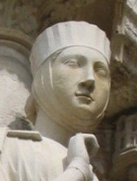 Rainha consorte, Matilde II, do Rei de Portugal D.AFONSO III, O Bolonhês (1210/17-1279). Matilde  reinou entre 1248 a 1253) = Matilda II, Countess of Boulogne  Queen of Portugal from 1248 until 1253. She was married to Afonso III but he divorced her in 1253. - wikipedia.org