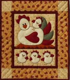 chicken applique patterns free | Click on picture to view enlarged. Use back button to return here.