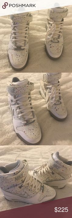 😍RARE Nike Dunk Sky Hi Print Sneaker Wedges😍 😍PARIS EDITION. RARE Nike Dunk Sky Hi Print Sneaker Wedges😍Size 7 1/2. RARE KICKS FROM NIKE! Super comfortable and gorgeous!!!! Perfect for summer! If you're a beaker head or not, you will enjoy these rare limited edition kicks! BRAND NEW. NEVER WORN!! MINT CONDITION. 🛑I only ship Sneakers. I do not ship Shoe Box.🛑 Nike Shoes Sneakers
